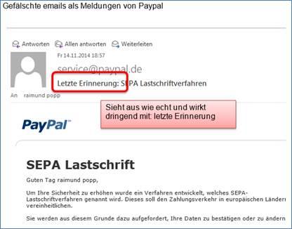 Paypal Iban Falsch