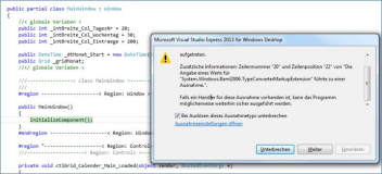 Gelöst: Ribbonbar System.Windows.Markup.XamlParseException ist in PresentationFramework.dll aufgetreten