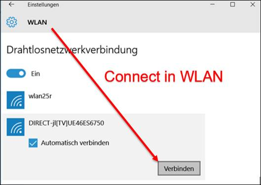how to connect pc to tv wireless windows 10