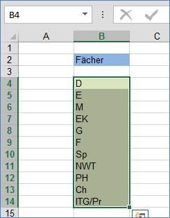 wie kann ich bei excel in einer zelle untereinander schreiben