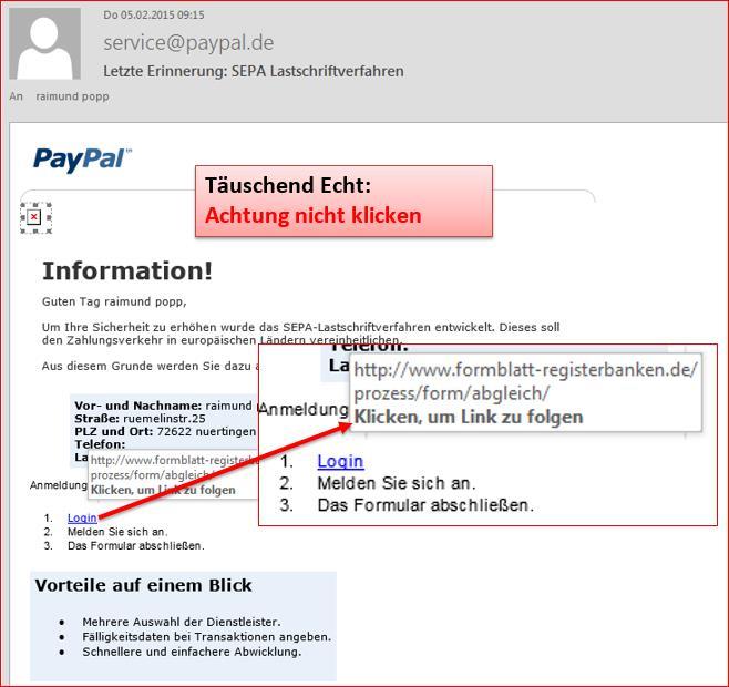 Paypal Lastschriftverfahren