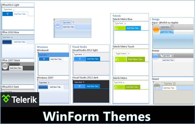 Telerik Themes unter WinForms 2015-03-15 @ codedocu_de Net Framework