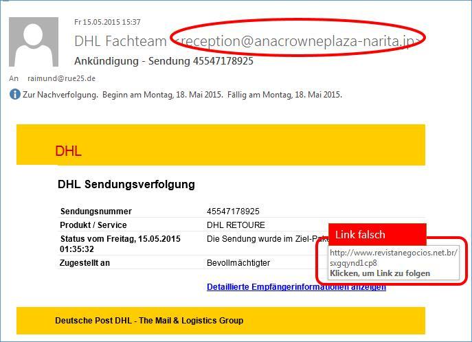 Ankündigung Sendung Dhl Phishing At Codedocude Blog