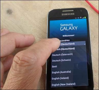 Samsung Galaxy S9 Datum Und Uhrzeit Obere Leiste