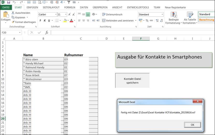 Excel Arbeitsblatt Kopieren In Andere Datei : Kopieren des telefonbuch der fritzbox zum smartphone s