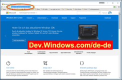 DEV: Developer Login zum Deutschen Windows Dev Center