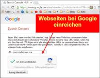 google seite registrieren