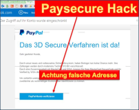 Paysecure Paypal Betrugsmasche