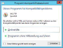Kompatibilitätsprobleme beim Windows Server einstellen , Korrektur
