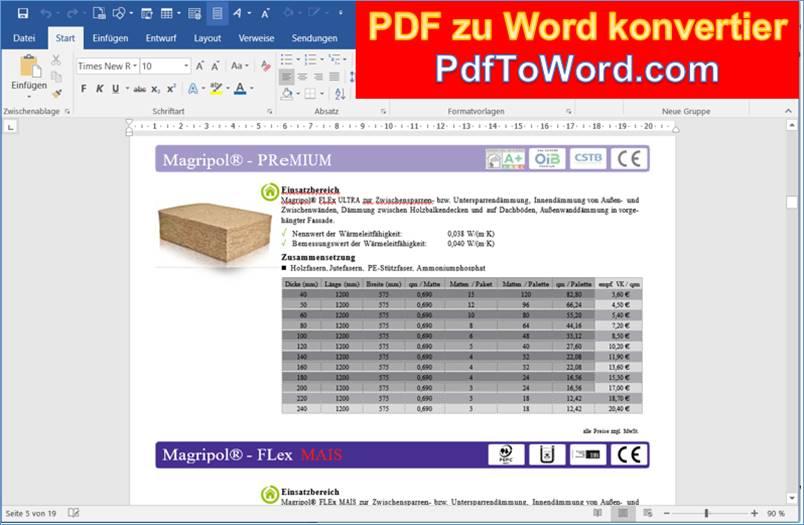 www pdf to word converter online