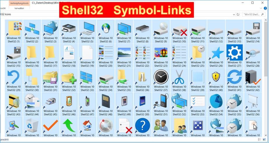 win10 shell32 icons als linkverkn252fungen codedocude
