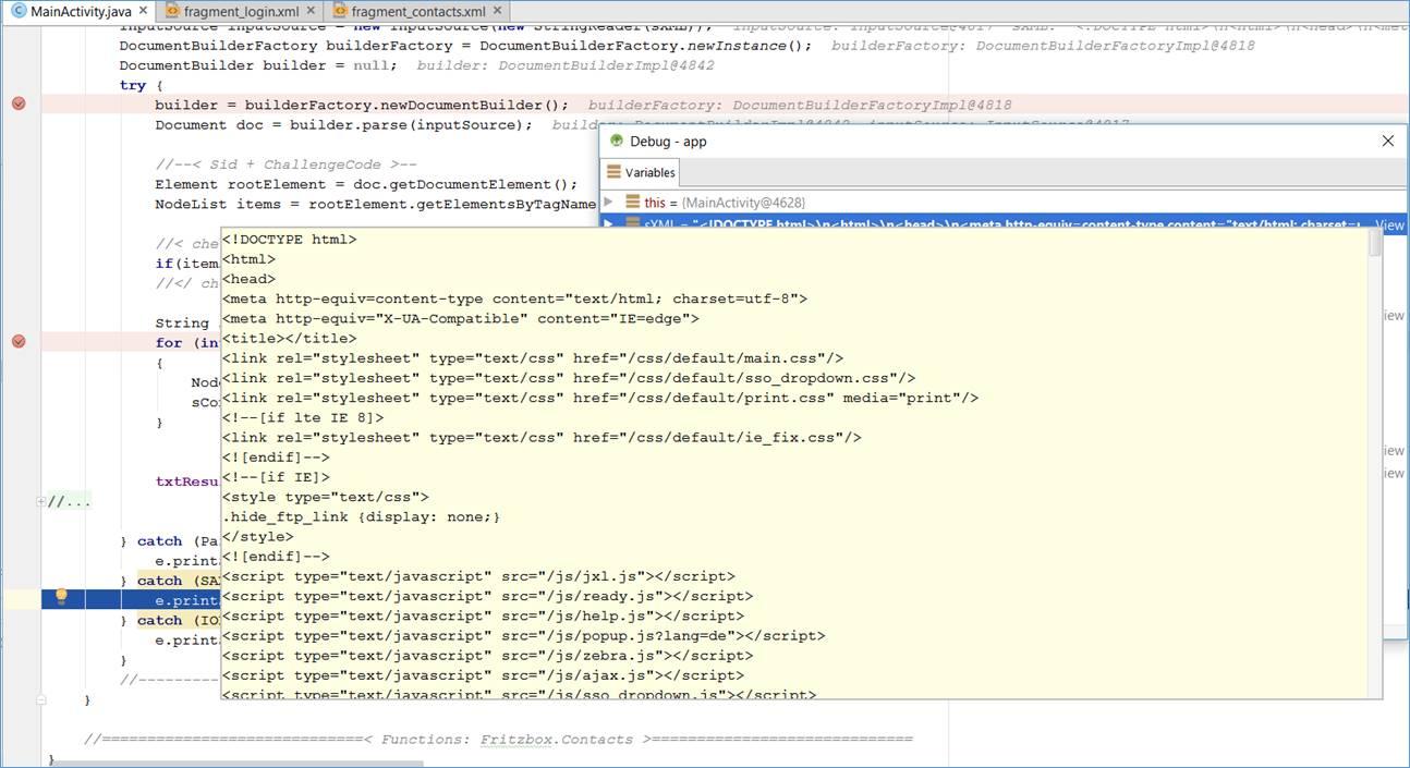 Android Java Fehlermeldung Beim Lesen Eines Html Dokuments