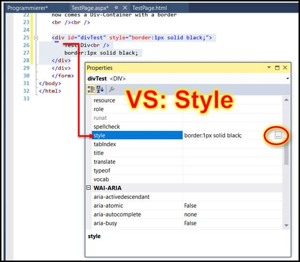 Html div container mit rahmen in visual studio codedocu de - Div tag properties ...
