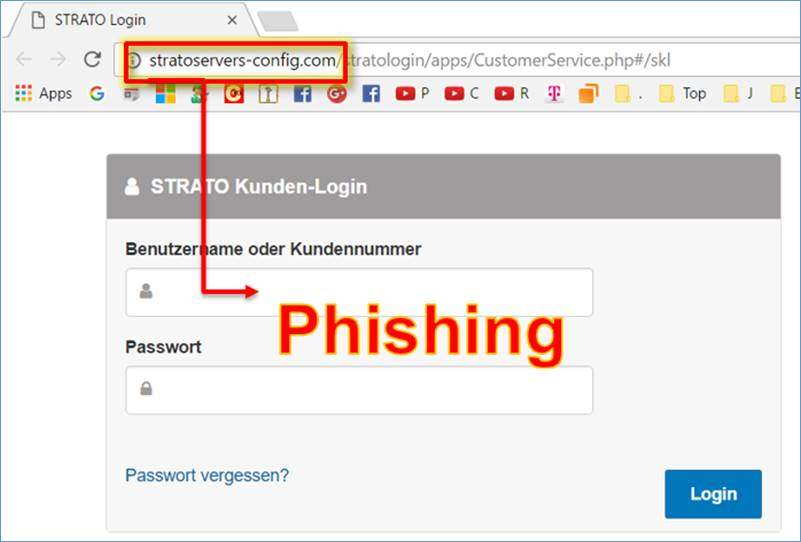 achtung phishing strato ag strato mailbox blocked in your. Black Bedroom Furniture Sets. Home Design Ideas
