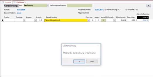 Access VBA: Löschen von Datensätzen @ codedocu_de Office 365
