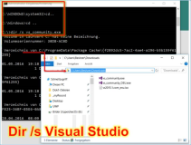 Visual Studio: Setup Dateien zu Visual Studio auf Computer in Windows 10 suchen