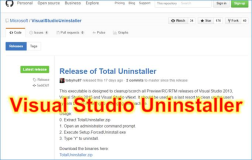 Visual Studio Uninstaller: Deinstallieren aller Visual Studio Versionen