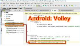 Android Volley: Volley Modul für Webrequest in Android Projekt einbinden