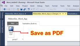 Word Add-In: Dokument als PDF speichern