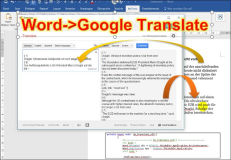 Download Word Addin: Automatische Übersetzung von Word Dokumenten in Google Translate