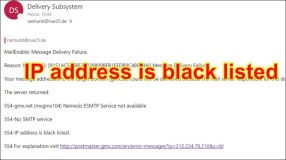 Mailserver: IP is Blacklisted