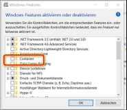 Windows 10: Required Windows Feature Containers is not enabled