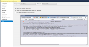Visual Studio Fehler: GetDeploymentPathFromVsixManifest-Aufgabe System IO FileNotFoundException