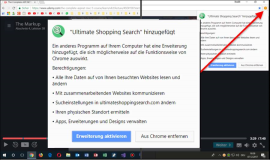 Chrome: Ultimate Shopping Search hinzugefügt