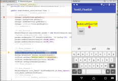 Android Java: ein View-Element als Float erstellen