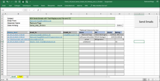 Serien-Emails senden mit Excel. Version 39