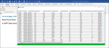 Word Addin: Lade Excel Datei in WPF DatenGrid