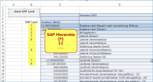SAP Excel Makro: Hierarchie Level auswerten