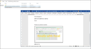 Serien Emails aus Excel versenden mit Textvorlage in Word Version 54